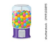 gumball machine  dispenser with ... | Shutterstock .eps vector #1949103895