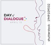 day of dialogue. white abstract ...   Shutterstock .eps vector #1949109532