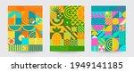 geometric summer backgrounds... | Shutterstock .eps vector #1949141185