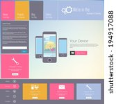 website template   modern flat...
