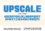 pixel vector alphabet design ... | Shutterstock .eps vector #1949183938