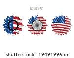patriotic sunflower set for t... | Shutterstock .eps vector #1949199655