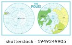 the poles   north pole and... | Shutterstock .eps vector #1949249905