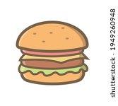 hamburger icon illustration... | Shutterstock .eps vector #1949260948