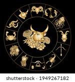 taurus vector of astrology...   Shutterstock .eps vector #1949267182