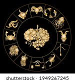 sagittarius of astrology design.... | Shutterstock .eps vector #1949267245