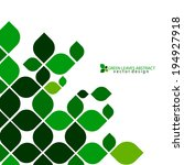 Green Leaves Abstract Vector...