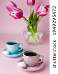a two cups of coffee and a...   Shutterstock . vector #1949295472