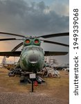 Small photo of RIGA, LATVIA - March 10 6, 2021: Huge of Mil Mi-6 Heavy lift helicopter, Nato Code Name 'Hook', displayed at the Riga Aviation Museum