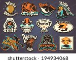 vector illustration of vintage... | Shutterstock .eps vector #194934068