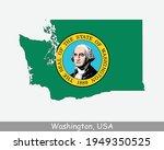washington state map flag. map...   Shutterstock .eps vector #1949350525
