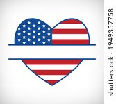 patriotic heart monogram for t...   Shutterstock .eps vector #1949357758