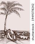 beach scene and sea view hand... | Shutterstock .eps vector #1949378242