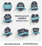 premium quality label set in... | Shutterstock . vector #194940416