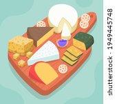 cheese set. gourmet composition ... | Shutterstock .eps vector #1949445748