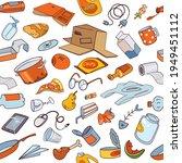 garbage. trash. seamless... | Shutterstock .eps vector #1949451112