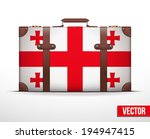 classic luggage suitcase with... | Shutterstock .eps vector #194947415