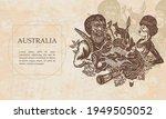 australia. ethnic australian... | Shutterstock .eps vector #1949505052