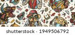 dogs. seamless pattern. old... | Shutterstock .eps vector #1949506792