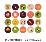 flat icons set 30   castle and... | Shutterstock .eps vector #194951228