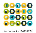 flat icons vector set 21   book ...