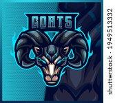 goat ram sheep mascot esport... | Shutterstock .eps vector #1949513332