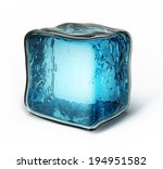 ice cube isolated on a white... | Shutterstock . vector #194951582