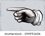 hand of the human. pointing... | Shutterstock .eps vector #194951636