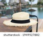 beautiful white panama hat on...   Shutterstock . vector #1949527882