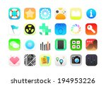 flat icons gradient style with... | Shutterstock .eps vector #194953226