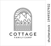 cottage or cabin line art...   Shutterstock .eps vector #1949537932