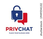private chat logo tamplate.... | Shutterstock .eps vector #1949554132