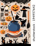 halloween elements | Shutterstock .eps vector #194957642