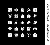 interface white glyph icons set ...