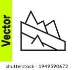 black line mountain descent...   Shutterstock .eps vector #1949590672