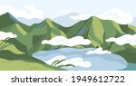 panoramic view of summer... | Shutterstock .eps vector #1949612722