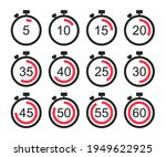 timer icon set. stopwatch with...