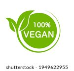 vegan product 100 percent....   Shutterstock .eps vector #1949622955