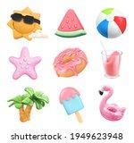 summer icons set. sun  ball ... | Shutterstock .eps vector #1949623948
