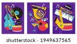 set of jazz festival posters... | Shutterstock .eps vector #1949637565