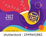 set of jazz festival poster or... | Shutterstock .eps vector #1949641882