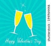 champagne glasses. blue... | Shutterstock . vector #194964446