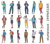 flat design vector set of... | Shutterstock .eps vector #1949651305