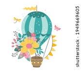 cute hot air balloon with... | Shutterstock .eps vector #1949669605
