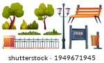 park elements set isolated... | Shutterstock .eps vector #1949671945