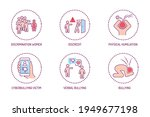 violence color line icons set.... | Shutterstock .eps vector #1949677198
