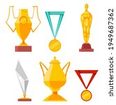 trophies  medals  cups and...   Shutterstock .eps vector #1949687362