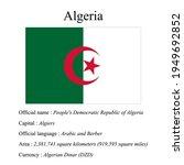 algeria national flag  country...   Shutterstock .eps vector #1949692852