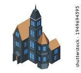 old creepy house icon.... | Shutterstock .eps vector #1949694595