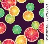 seamless pattern with lemon ...   Shutterstock .eps vector #1949694775
